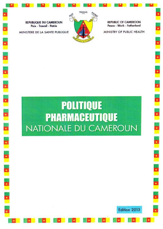 Politique pharmaceutique nationale Cameroun PPN